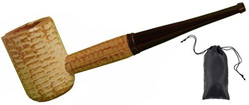 Kostüm Cob Mais - GERMANUS Original Corncob Pfeife - Premium Classic, Gerade - Tabakpfeife inkl. Pfeifenbeutel