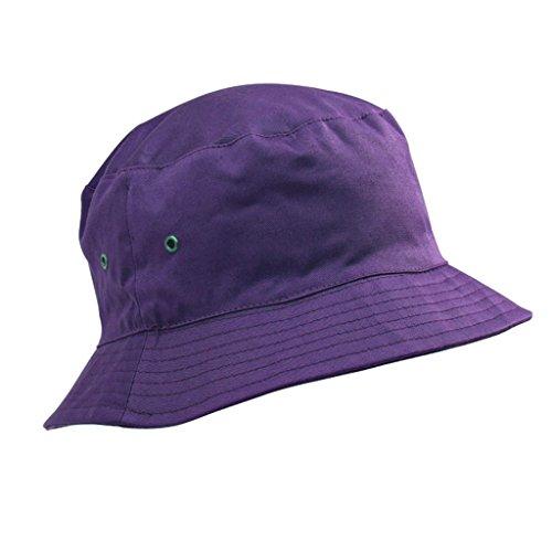 Bonnet en coton de qualité pour enfants en été - chapeaux de soleil de 5 à 11 ans, garçons et filles Violet - Violet