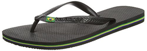 Havaianas Brasil Infradito, Unisex-Adulto, Nero (Black 0090), 45/46 EU (43/44 BR)