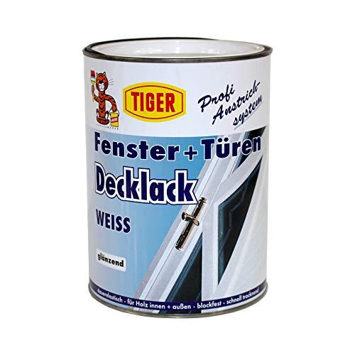 fenster und tuerenlack Tiger Fenster und Türen Decklack glänzend weiß 2,5 l Fensterlack Türenlack