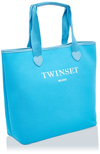Twin Set As8pna, Borsa a Spalla Donna, 15x36x34 cm (W x H x L) Turchese (St.New York Turchese)