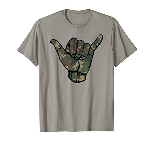 Anvil Camouflage (Camouflage Surfs Up Hawaii Shaka Sign Shirt Art-Retro Shaka T-Shirt)
