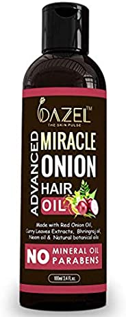 Dazel - The Skin Pulse® Onion Hair Oil with Advanced formulation | Complete Hair Treatment | Hair Oil For Hair