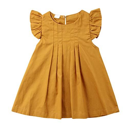 Bibao Baby Mädchen (0-24 Monate) Kleid gelb gelb 12-24 Monate