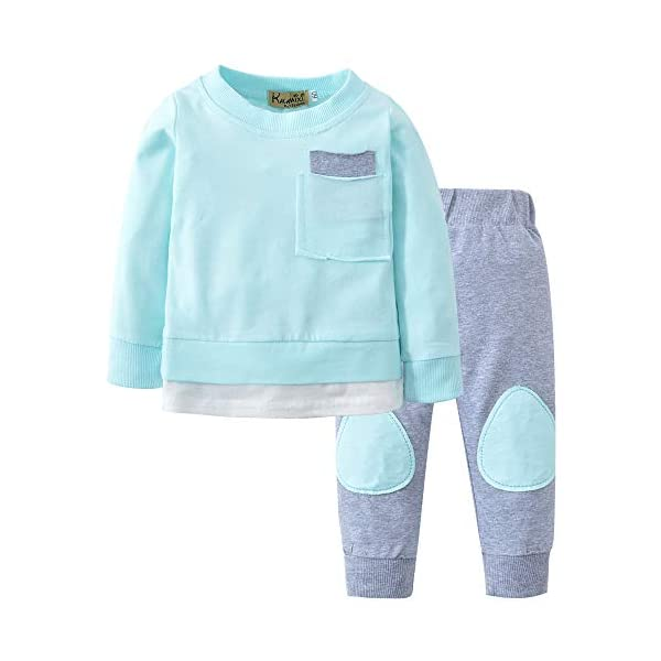 Trisee Ropa Bebe Niño Otoño Invierno Sudaderas Manga Larga Camisetas Blusas + Pantalones Largos Conjuntos De Ropa… 2