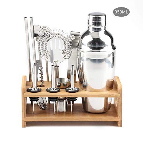 Professionelles Cocktail-Shaker-Set, 13-teiliges Barkeeper-Set aus Edelstahl mit Barkeeper-Ständer Mixology Barware Home Bar Mixer-Werkzeugset Barware Cocktail-shaker