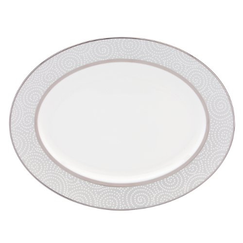 Lenox Pearl Beads Oval Platter, 13-Inch Lenox Pearl