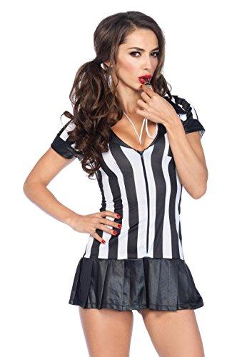 . Schiedsrichterin Kostüm Set Mit Kleid Mit Kniestrümpfen Und Pfeife Damen Dessous Reizwäsche, S/M (EUR 36-38) (Damen Schiedsrichter Kostüme)
