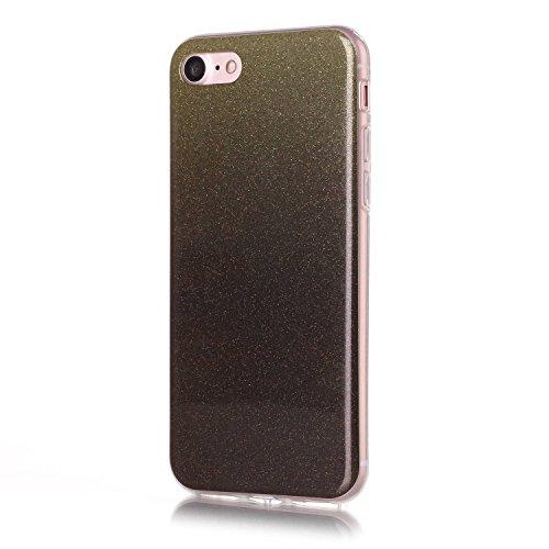 iPhone Case Cover Étui pour iPhone 7, gradient motif de couleur ultra mince TPU couverture arrière souple pour Apple iPhone 7 ( Color : F , Size : IPhone7 ) F