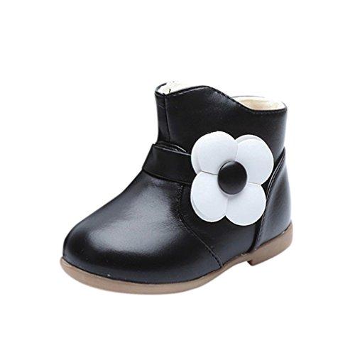 Martin Schuhe Jamicy® Winter heiße Verkaufs Baumwoll Stiefel klassische Schuhe rutschfeste halten warme Sport Freizeit schuhe Für Jungen mädchen (EU:26, Schwarz)