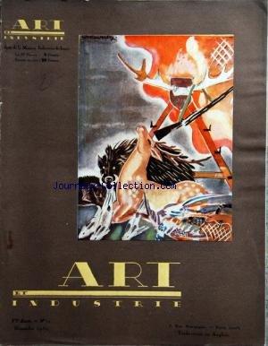 ART INDUSTRIE [No 11] du 01/11/1930 - COUVERTURE PAR WECLAWOWICZ - LE CHATEAU DE VAUVENARGUES - A AUTEUIL PAR SAUVAGE - APPARTEMENT DE DE SVIRSKY - DECORS ET COSTUMES - GRAVURES SUR BOIS DE LE BRETON - LUSTRES DE RENE GORO