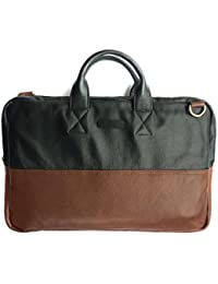 "Chalk Factory Leather Office Bag With Padding For Laptops Of Screen Size Upto 15"" #HNDL - 2 Color Options"