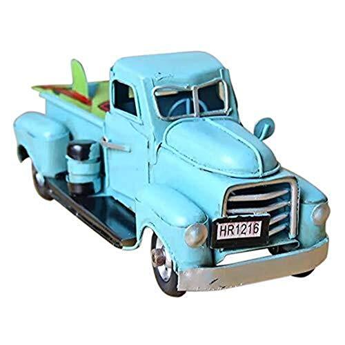 Coche de Juguete Vintage Light Blue Metal Truck Adorno de...