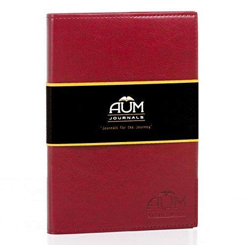 Nachfüllbares Tagebuch Fürs Leben - A5 Leder Tagebuch Journal (15 x 21 cm) faux Leder Tagebücher, Sechs Farboptionen - 208 LINIERTES Journaling Seiten - Aum Journals A5 Originals - (Rouge Tagebuch) (Faux-leder-umschlag)
