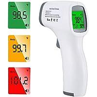 Termometro Frontale,Termometro a Infrarossi Portatile Senza Contatto, Letture Istantanee Accurate, Adatto a Bambini, Adulti, Cibo[ 2020 Nuovo ]…