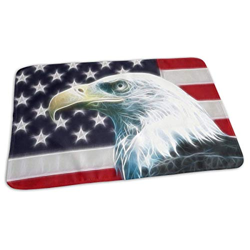 Voxpkrs Premium Baby Diaper Changing Pads for Infant Fractal Vintage American Eagle Flag Portable Urine Pads Sanitary Mats Great for Travel/Stroller/Bed/Car (Kinderbett American Baby Bettwäsche)