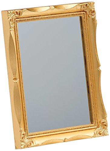 Walther SP017G Wohnraumspiegel mit Kunststoff-Leiste, 13 x 18 cm, gold