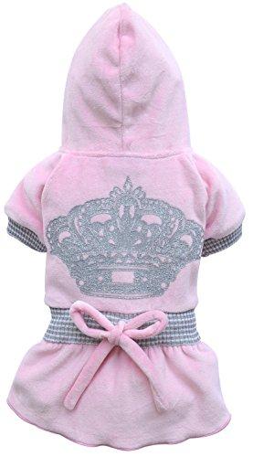 Doggy Dolly D181 Hundekleid mit Krone, rosa, Größe : XXS