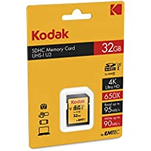Emtec CKMSD32GHC10HPRK 32GB SDHC UHS-I Clase 10 memoria flash - Tarjeta de memoria (32 GB, SDHC, Clase 10, UHS-I, 85 MB/s, Negro, Amarillo)