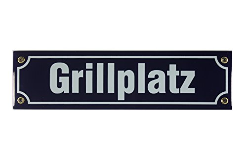 Buddel Bini Straßenschild Grillplatz