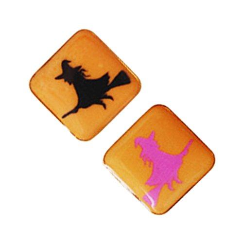 MagiDeal Halloween Hexe Muster Brosche Pin Scherzartikel Party Feste Deko für Erwachsene Kinder, 2 - La Halloween-fest Hexe