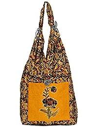 Anuradha Cotton Kalamkari Flower Printed Multicolor Sling Bag