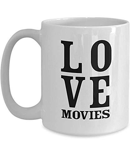 Taza Regalos para los amantes del cine Hombres Buffs Makers Personas Director Fans Cinematógrafos - Regalos para el teatro Chicas Amantes Maestros Graduados Funny Gag Coffee Mug