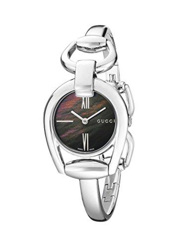 Gucci YA139503 - Reloj de cuarzo para mujer, con correa de acero inoxidable, color plateado