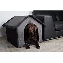 Stoff-Hundehütte / Hundehöhle, grau - L 60 x B 56 x H 60 cm
