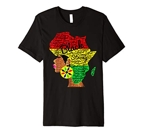 96cf4f778 African American Woman With Afro Word Art Natural Hair Shirt
