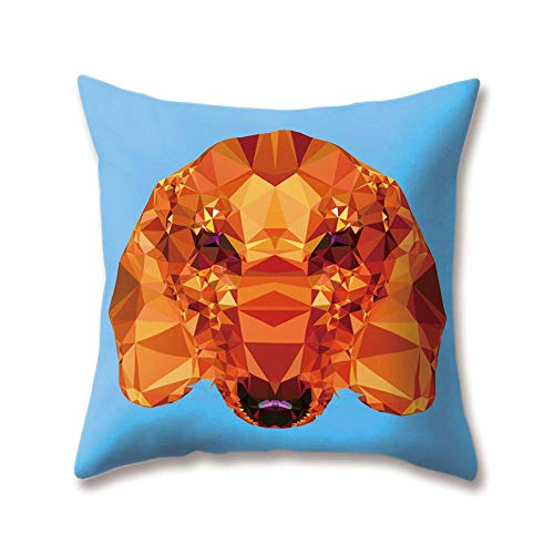 OPoplizg Soft Plush Zoo Cushion Covers Crystal Diamond Animal Dog Cat Tiger Polar Bear Wolf Printing 40cm x 40cm(16 x 16inch) Throw Soft Plush Pillow Cases for Home Sofa Bed Decorative