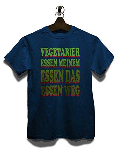 Vegetarier Essen Meinem Essen Das Essen Weg T-Shirt Navy Blau