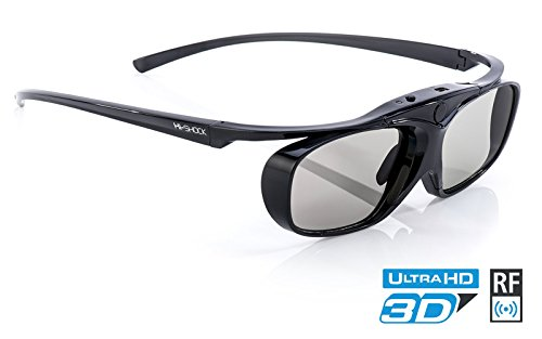 Hi-SHOCK Black Heaven | aktive 3D Shutterbrille für 3D TV Sony, Samsung, Panasonic | komp. mit SSG-3570CR, TDG-BT500A, TY-ER3D4MU [120 Hz| akku] - 2d-zu-3d-projektor