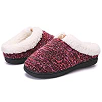 Slippers for Women Men Cozy Memory Foam Plush Fleece House Shoes Furry Wool-Like w/Indoor Outdoor