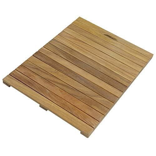 JIAJUAN Rechteck Ökologie Holz Bad Dusche Zubehör Fußboden Matte zum Innen- Zuhause Hotel Sauna Badezimmer (Color : A, Size : 40x80cm)