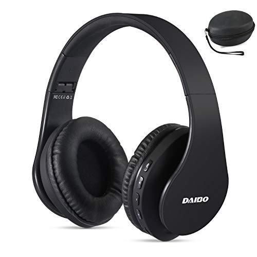 Casque Bluetooth sans Fil, Daibo Écouteurs Bluetooth Oreillettes Bluetooth pour TV Samsung iPhone iPad Huawei (Noir)