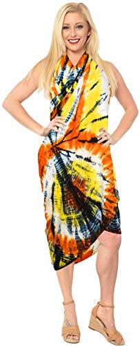 LA LEELA tie dye Frauen Plus Größe Sarong Badeanzug-Bikini-Vertuschung Rot_Y846 78