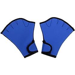 1 Paire de Gants Aquatiques Gants de plongée Gants palmés Natation Résistance Fitness Aquatique Eau Formation Gants Bleu Sport Plein air Accessoires
