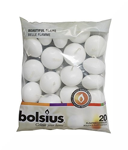 Gardenia-lotion (Bolsius White Floating Candles in Bag Set of 20 and Inspirational Fridge Magnet by Bolsius)