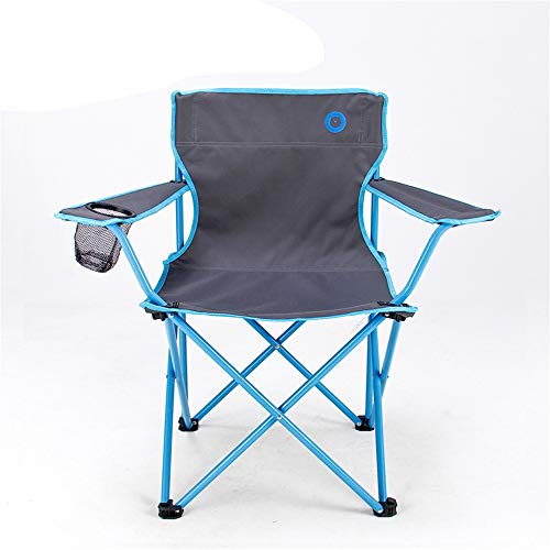 RBH Klappbarer Camping Stuhl Angeln Stuhl Rückenlehne Stuhl Mit Getränkehalter Schwere Stahlrahmen Halterung Faltbare Verdickung Sessel Outdoor Schwere