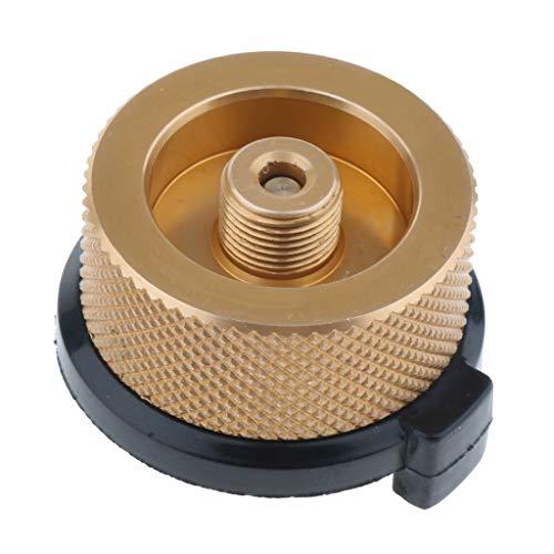 perfk Adaptateur de Raccord Rapide de Connecteur de Gaz de Brûleur de Pique-Nique - d'or