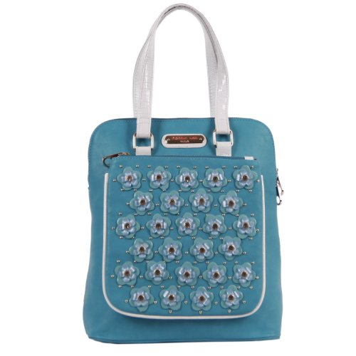 nicole-lee-makenzie-floral-encrusted-beads-backpack-purse-blue-one-size