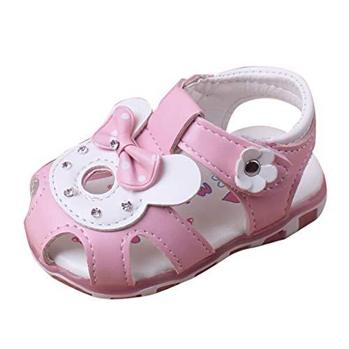 YpingLonk ❣ Baby Cartoon leichte Sandalen Kleinkind Schuhe weichen Boden Bluse Lose Tops rutschfeste Babyschuhe rosa (Halloween-einzelteilen Baby Cute)