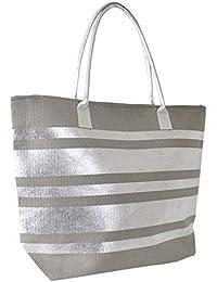 Lora Dora Womens Zip Up Summer Beach Bag