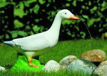 Wasserspeier Ente 37 x 30 cm 90351 Kunststoff-Figur ohne Pumpe