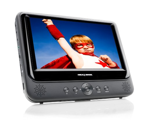 Nextbase NB49 Tragbarer DVD Player 22,8 cm (9 Zoll) inkl. Auto-Halterung und Zubehör