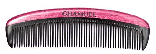Beard Comb by Chamuel Men. All Natural Premium Sandalwood & Buffalo Horn. Non static-Ideal for Shaping and Grooming the Beard! Also Used for Combing Hair. Makes a Perfect Gift! Measures 5 5/8 X 1 5/8(14.3 X 4.1 cm). by Chamuel
