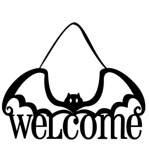 Prevently Halloween Vlies Tür Hängen Dekor Haunted House Bat Home Party Decor Innenbereich Für Zu Hause, Schaufenster, Club, Party Urlaub Dekoration Vlies Hängen
