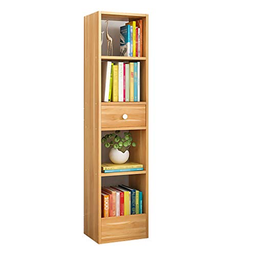Lixmzzwj office shelf organizers, moderna libreria da terra in legno office 2-5 livelli rovere con ripiano portaoggetti (dimensioni : 5 tier brown 120x30x25)