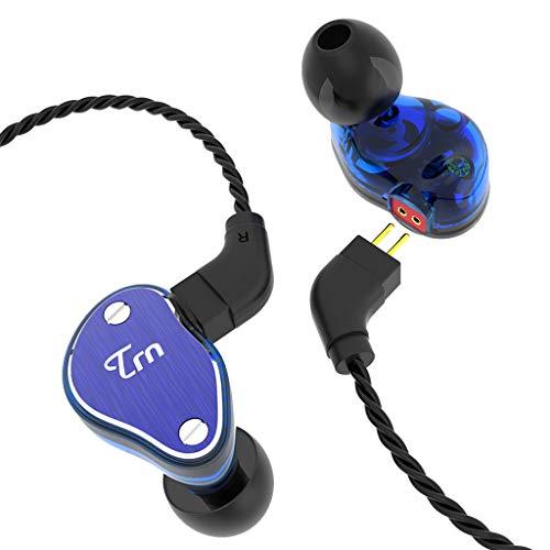 TRN V60 Dual-Drive-In-Ear-Ringkabel-Headset/Subwoofer-Surround/HiFi-Sound/Angenehm Weiches Design/Für Mobiltelefone Computer Xbox/Blau